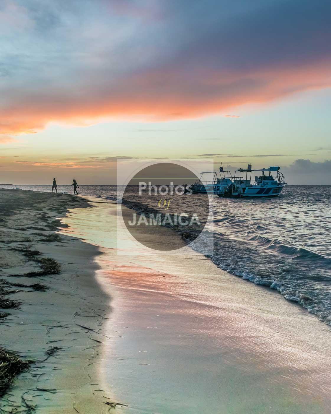 beach sunset sand Jamaica
